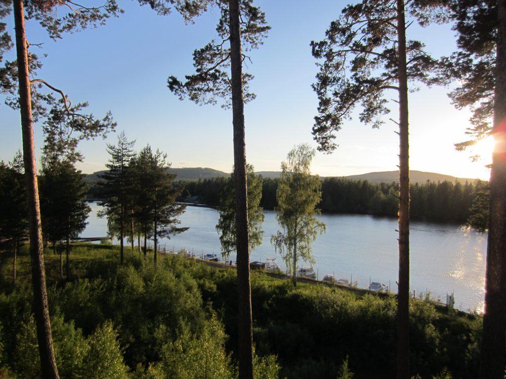 Villa Solsidan vid älven Ljusnan
